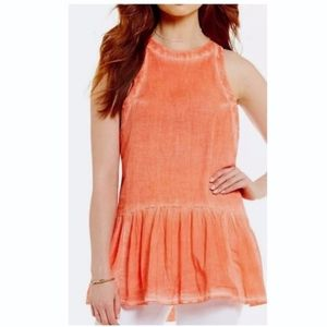FREE PEOPLE Breathless Moments Coral Tunic Small